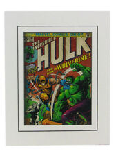 Incredible Hulk #181 Cover Art Print Matted Wolverine Marvel Comics Herb Trimpe