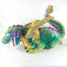 "Melissa & Doug Jumbo Dragon Plush Stuff Animal Toy #2121 Rainbow 13"" x 32"" ^"