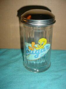 """Looney Tunes Tweety Bird """"LET IT POUR"""" Diner Sugar Jar Dispenser"""