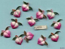 JAPAN Vintage PLASTIC PEACHES PEACH CABS Fruit CHARMS Cabochon Hand Painted lot