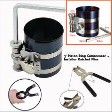 New Piston Ring Compressor Installer Ratchet Plier Remover Expander Engine Tool