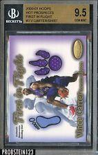 2000-01 Hoops H Prospects Vince Carter First In Flight S Shirt #458/750 BGS 9.5