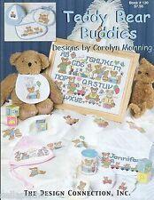 Teddy Bear Cross Stitch Pattern CArolyn Manning Alphabet Afghan Mommy