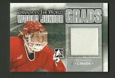Joe Thornton 2011 ITG World Junior Grads Game Used Jersey Silver Hockey Card