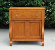 Wonderful American Empire Tiger Maple Jelly Cabinet Server Side C1840