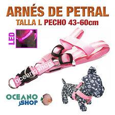 ARNÉS TALLA L LUMINOSO LED ROSA PETRAL AJUSTABLE PERRO PECHO 43-60cm L23SR 2948