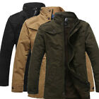 Mens THICKEN Winter Warm Casual Jacket Fashion Coat Collar Outwear Overcoat TOPS