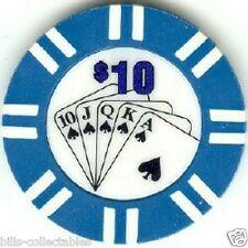 4 pc 4 colors 9 gm Royal Suit poker chip samples set #45