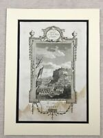 1791 Print Battle of Quebec Canada American Revolutionary War Antique Engraving