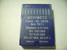 29 pc Schmetz sewing machine needles B-27 Ses My1023Ses Sy6120Ses Nm 75/11