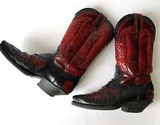 SENDRA COWBOYSTIEFEL Vintage schwarz rot 39 -39,5