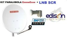 Kit parabola satellitare 80cm EmmeEsse completa di illuminatore LNB SCR MySKY HD