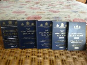 THE PHOTOGRAPHIC BLUE BOOKS 1964-65 -1968/69 Wallace Heaton (5 books in total)