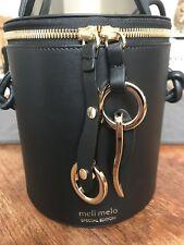 "meli melo x Olivia Palermo ""Severine"" leather  Bucket Bag- Black Nappa!!!"