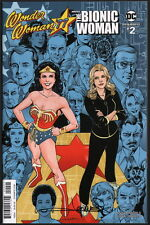 SIGNED Wonder Woman '77 Meets The Bionic Woman #2 ~ Aaron Lopresti Variant Cover