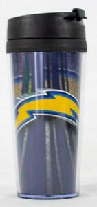 Los Angeles Chargers NFL Licensed Acrylic 16oz Tumbler Coffee Mug w/wrap Insert
