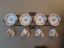 Royal Doulton Brambly Hedge 4 Season 8 pc Teacups & Saucer Plates + Display Rack