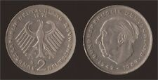 GERMANIA GERMANY 2 MARK 1971 G THEODOR HEUSS