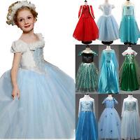 Princess Fairy Fancy Dress Up Kid Girls Elsa Anna Cinderella Cosplay Costume Lot