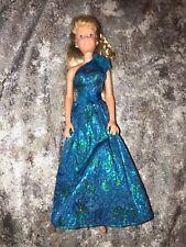 Vtg 1987 Mattel BARBIE DOLL Hasbro China H-15 Beauitful Dress w/Earrings