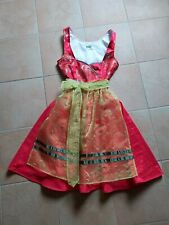 Dirndl kurz Tellerrock rot Gr.34 Muster edel Neu ungetragen Trachten Kleid