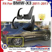 Fit For 2011-2017 BMW F25 X3 28iX, 35iX Models ABS Set of 4 OE Style Mud Flaps