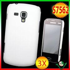 2x Pellicola+Custodia rigida BIANCA pr Samsung Galaxy S DUOS 2 S7580 back cover
