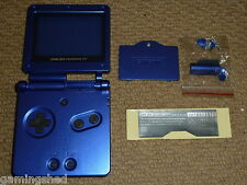 NINTENDO GAMEBOY ADVANCE SP FULL REPLACEMENT SHELL Blue BRAND NEW!! Housing Case