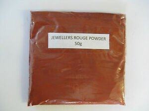 JEWELLERS ROUGE POWDER / 50g~ GOLD~SILVER~GLASS~POLISH~POLISHING~METALS