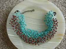 Bead Choker Necklace Unusual Small Pottery
