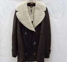 NWT $1995 Italy Authentic BURBERRY BRIT shearling jacket coat 40 / 6 Dark Brown