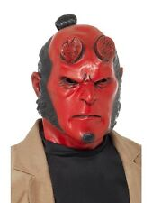 Hellboy Máscara De Latex Fancy Dress superhéroe Adulto Para Hombre Disfraz de Halloween accesorio