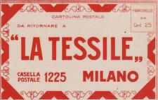 * MILANO - Cartolina di richiesta invio stoffe Tessile
