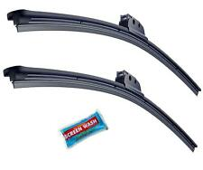 "15"" + 24"" Front Pair Of Specific Aero Flat Windscreen Wiper Blades & Screenwash"