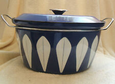 Vintage Catherineholm Navy 9 Qt Quart Very Large Dutch Oven with Lid Enamelware