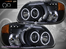1995-2001 FORD EXPLORER DUAL CCFL HALO LED BLACK PROJECTOR HEADLIGHTS