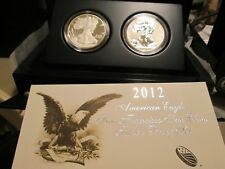 2012 AMERICAN EAGLE SAN FRANCISCO 2 COIN SILVER PROOF SET (INCL. REV. PROOF) X4
