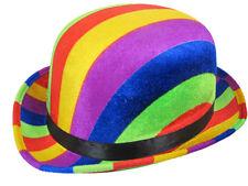 RAINBOW BOWLER HAT FUN NOVELTY FANCY DRESS PARTY