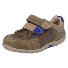 Chaussures décontractées beiges en cuir pour garçon de 2 à 16 ans