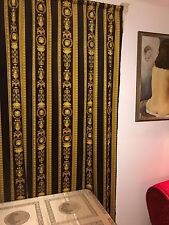 VERSACE FABRIC PANEL CURTAINS BLINDS MEDUSA BAROQUE Material CORTINAS 240cm Long