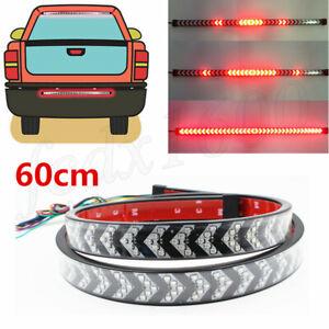 Self-adhesive 60cm LED Tailgate Roofline Light Flowing Turn Signal Brake Flash
