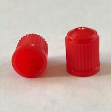 TYRE VALVE CAPS DUST COVER - CAR CYCLE BIKE - RED UK STANDARD SET OF 4 - TIRE