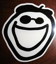 """Life is Good Sticker/Decal Jake Face Black/White 3 1/2"""" x 4"""" New"""