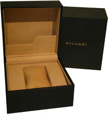Authentic Bvlgari Presentation Bulgari Watch Box Tan Interior
