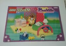 Vintage Lego System Belville Set 5860 instruction booklet and catalog, used 1994