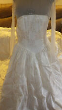 wedding Dresses Dress Gown Ivory tone on tone Wreck the Dress sz 10 AS IS