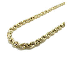 "Real 10K Gold Yellow Rope Chain 22"" 7mm wide 14.6 Grams"
