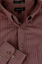 Nordstrom Men's Brick Red Geometric Cotton Casual Shirt XXL 2XL