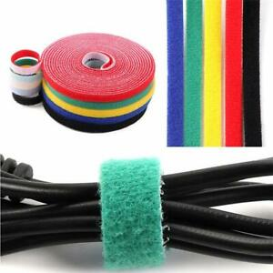 16 /32 / 82FT Reusable Fatening Tape Hook and Loop Cable Ties Strap Cord Wrap