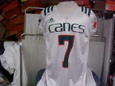University of Miami Hurricanes Adidas White Game Worn Practice Jersey #7 Large